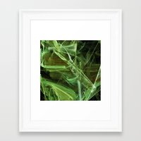lime green Framed Art Prints featuring Lime by Shalisa Photography
