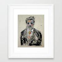 einstein Framed Art Prints featuring Einstein by Madara Mason Studio