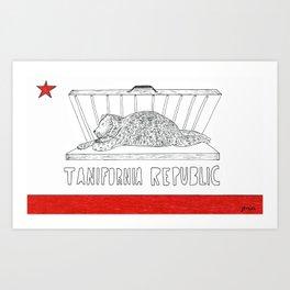 Tanifornia Republic Art Print