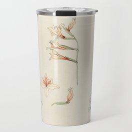 Julie de Graag - Study sheet with gladiolus and apple blossom Travel Mug