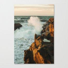 waves come crashing Canvas Print