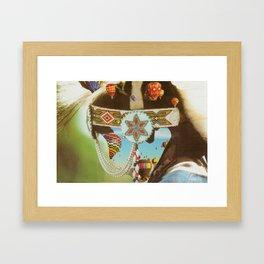 Air (Balloon) Head (Collage) Framed Art Print