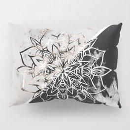 Yin Yang Mandala on Marble #1 #decor #art #society6 Pillow Sham
