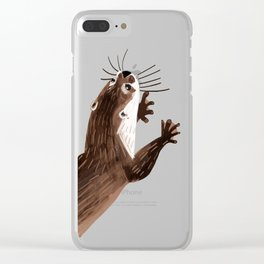 Asian small-clawed otter Clear iPhone Case