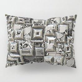 Abstract Geometric Skulls Collage Pillow Sham