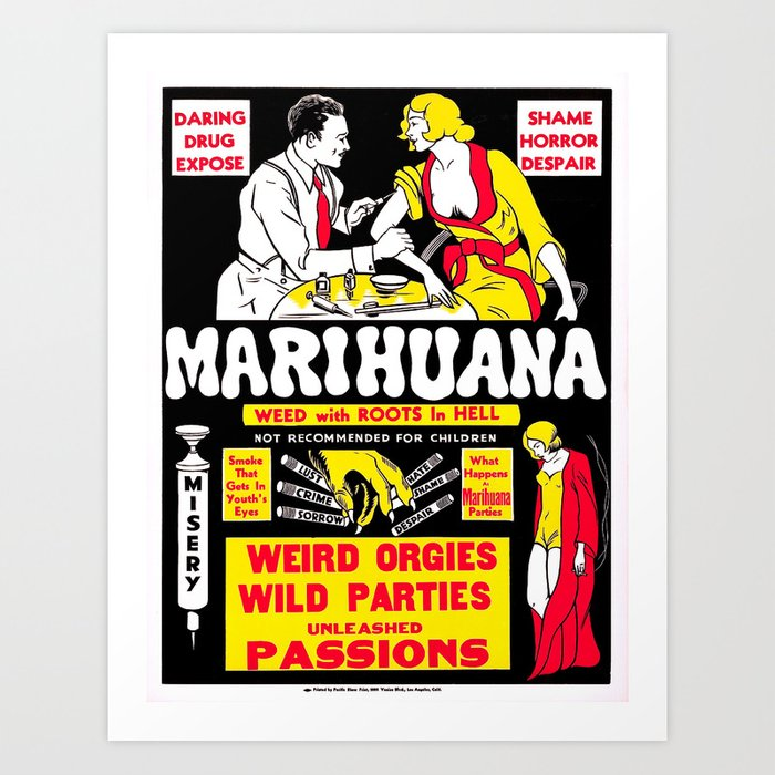 Marijuana Poster (Reefer Madness) Art Print