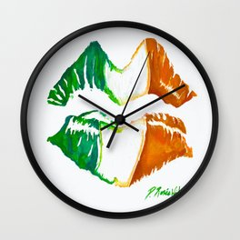 Kiss Me, I'm Irish Wall Clock