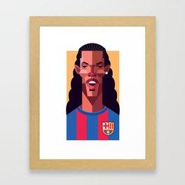 R10 | Blaugrana Framed Art Print