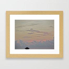 A Pink Sunset Framed Art Print