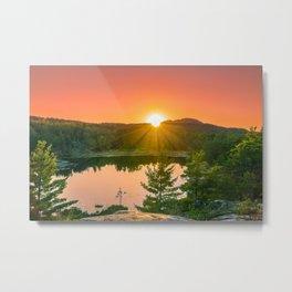 Wetmore Pond Sunset Metal Print