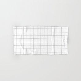 grey white grid Hand & Bath Towel