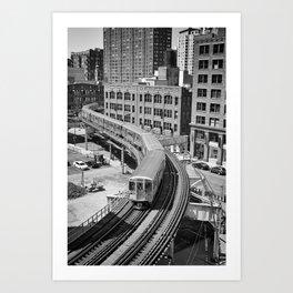 Brown Line Art Print