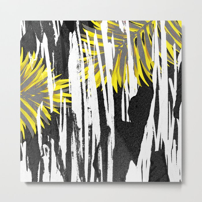 Abstract Palm Tree Leaves Design Metal Print