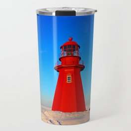 Lighthouse  and Frozen Sea Travel Mug