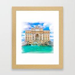 La Dolce Vita - Rome's Trevi Fountain Framed Art Print