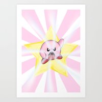 kirby Art Prints featuring Kirby by DROIDMONKEY