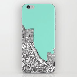 Great Wall of China (Mint Green) iPhone Skin