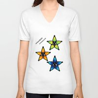 kingdom hearts V-neck T-shirts featuring Kingdom Hearts - Wayfinders by Lunil