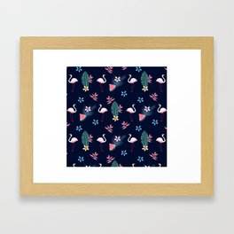 Flamingo Pattern 4 Framed Art Print