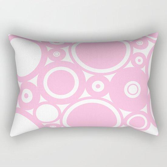 Abstract dots and circles - abstract patterns - pink #Society6 Rectangular Pillow
