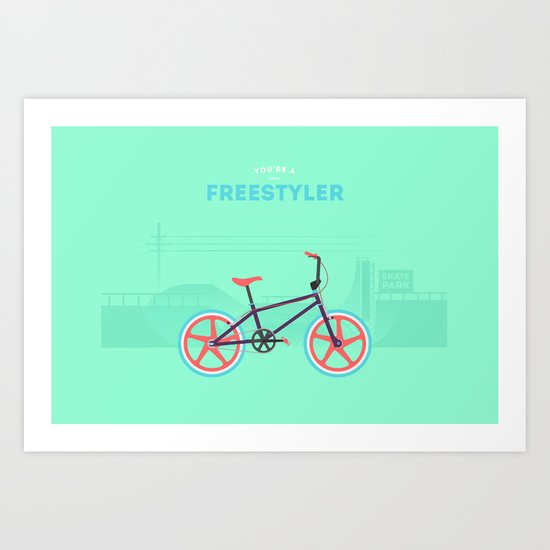 Freestyler Art Print