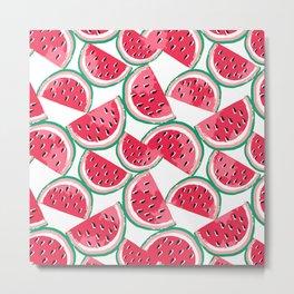 watermelon white Metal Print