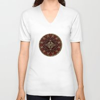 nemo V-neck T-shirts featuring Golden Treasure of Nemo by Britta Glodde