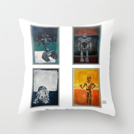 Rothbots Throw Pillow