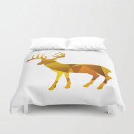Deer - Gold Geomatric Duvet Cover