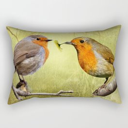 Robins Reflected Rectangular Pillow
