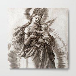 """Albrecht Dürer """"The Virgin with a Starry Crown"""" Metal Print"""