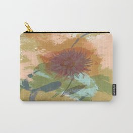 Autumnal Brushstrokes, Abstract Floral Art Carry-All Pouch