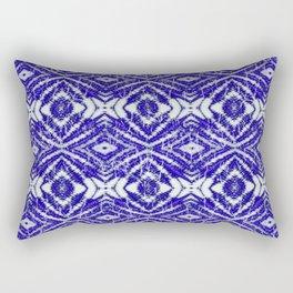 tie dye blue diamond Rectangular Pillow