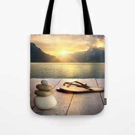 Zen Sunset Tote Bag
