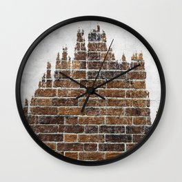 brick and tree Wall Clock