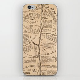 Vintage Map of The Battle of Bull Run (1861) iPhone Skin