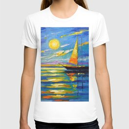 Sailboat at sunset T-shirt