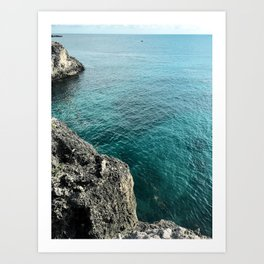 Cliffs of Negril Jamaica Art Print