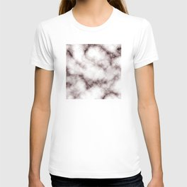 Creamy White Marble With Chocolate Brown Veins T-shirt
