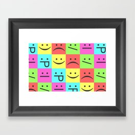 Smiley Chess Board Framed Art Print