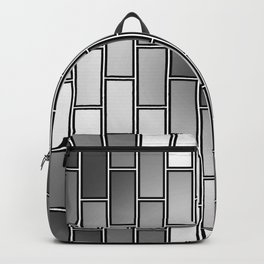 BRICK WALL #2 (Grays & White) Backpack