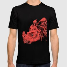 Red Rhino Mens Fitted Tee LARGE Black
