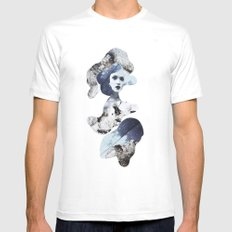 blue emotions White SMALL Mens Fitted Tee