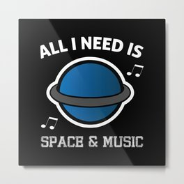 Space and Music Metal Print