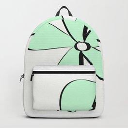 Green Daisy Backpack