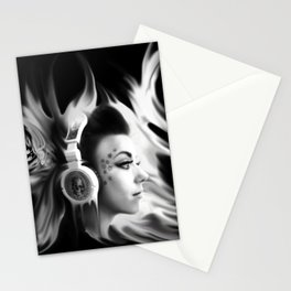 Lost in Lyric, Drowning in sound.  Stationery Cards