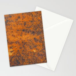 Vintage metall rust texture - Orange / red pattern Stationery Cards