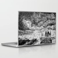 van Laptop & iPad Skins featuring Storm - Ink by Nicolas Jolly