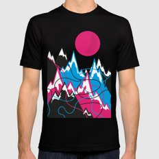 Mountains landscape Mens Fitted Tee Black LARGE
