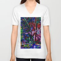 crystal V-neck T-shirts featuring Crystal by Stephen Linhart